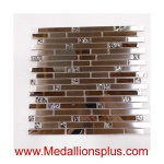 Stainless Steel and Glass Ice Backsplash